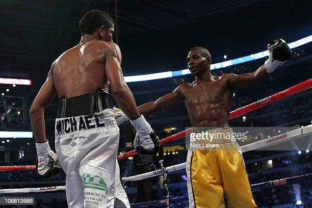 Guillermo Rigondeaux reacts after he won his match against Ricardo Cordoba of Panama during their WBA Interim World Junior Featherweight Title bout...