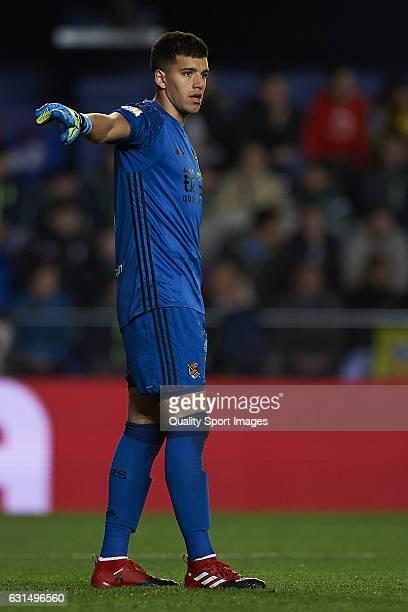 Guillermo Rulli of Real Sociedad during the Copa del Rey Round of 16 second leg match between Villarreal CF and Real Sociedad at Estadio de la...