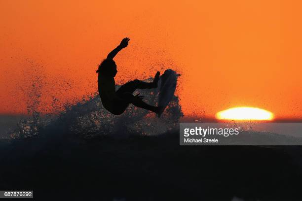 Guillermo Satt of Chile in action whilst competing in the Men's Qualifying Round 2 during day five of the ISA World Surfing Games 2017 at Grande...