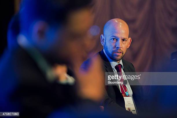 Guillermo Turrent director of modernization for Mexico's Comision Federal de Electricidad speaks during the 2015 IHS CERAWeek conference in Houston...
