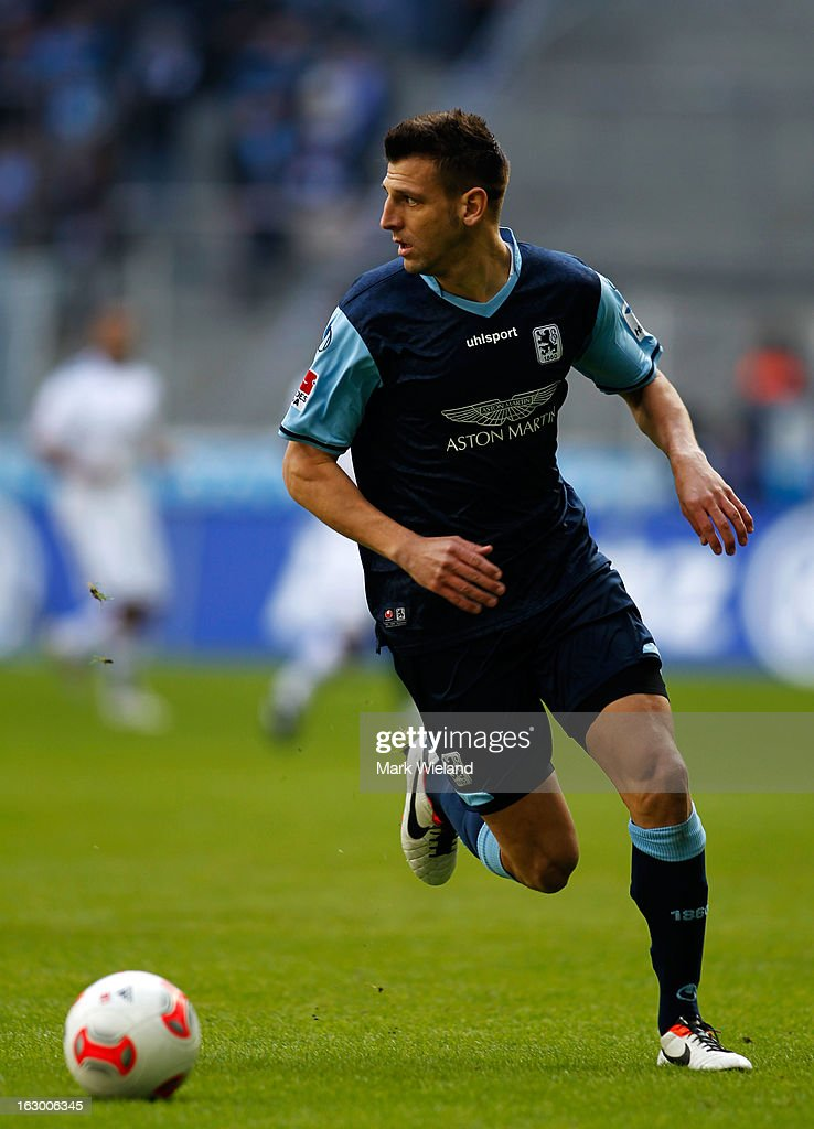 Guillermo Vallori of 1860 Muenchen in action during the Second Bundesliga League match between 1860 Muenchen and FC Ingostadt at Allianz Arena on March 3, 2013 in Munich, Germany.
