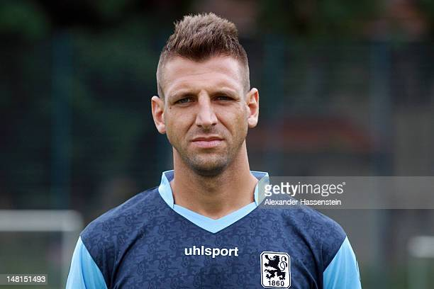 Guillermo Vallori of 1860 Muenchen poses during the Second Bundesliga team presentation of TSV 1860 Muenchen on July 11 2012 in Munich Germany