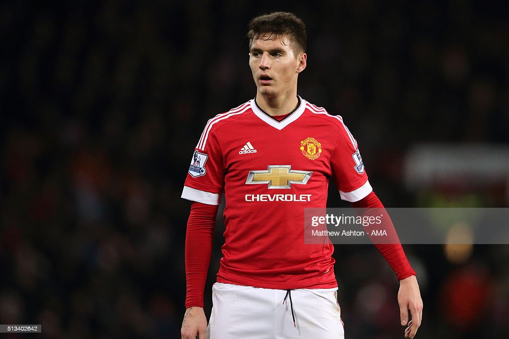 <a gi-track='captionPersonalityLinkClicked' href=/galleries/search?phrase=Guillermo+Varela&family=editorial&specificpeople=10113482 ng-click='$event.stopPropagation()'>Guillermo Varela</a> of Manchester United during the Barclays Premier League match between Manchester United and Watford at Old Trafford on March 02, 2016 in Manchester, England.