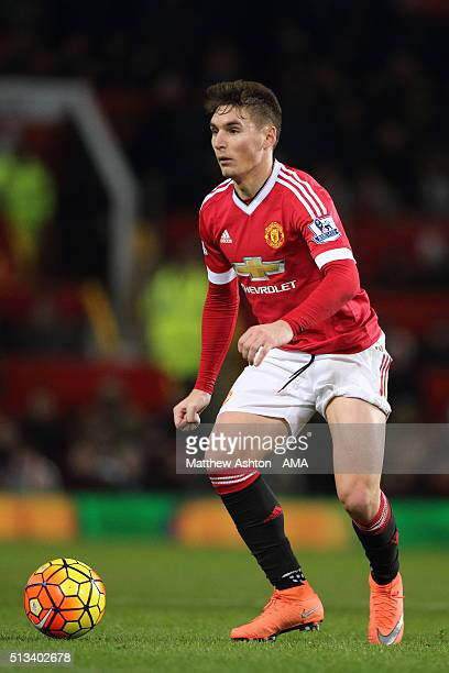 Guillermo Varela of Manchester United during the Barclays Premier League match between Manchester United and Watford at Old Trafford on March 02 2016...