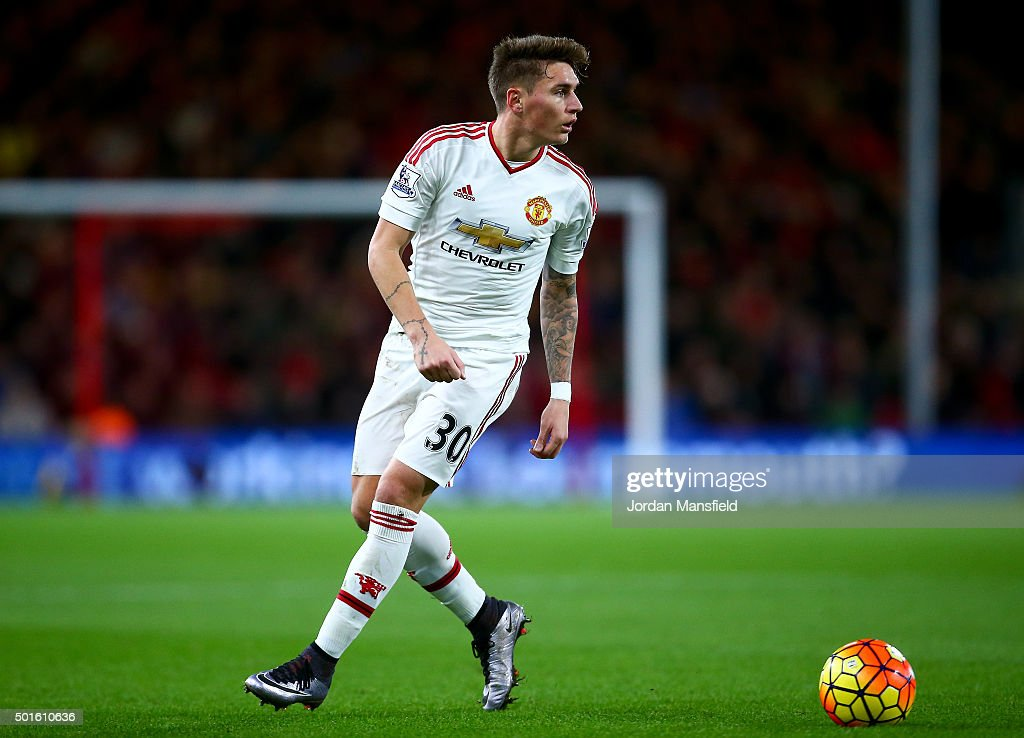 <a gi-track='captionPersonalityLinkClicked' href=/galleries/search?phrase=Guillermo+Varela&family=editorial&specificpeople=10113482 ng-click='$event.stopPropagation()'>Guillermo Varela</a> of Manchester United in action during the Barclays Premier League match between A.F.C. Bournemouth and Manchester United at the Vitality Stadium on December 12, 2015 in Bournemouth, United Kingdom.