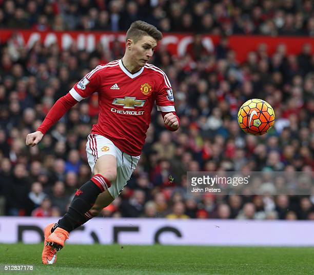 Guillermo Varela of Manchester United in action during the Barclays Premier League match between Manchester United and Arsenal at Old Trafford on...