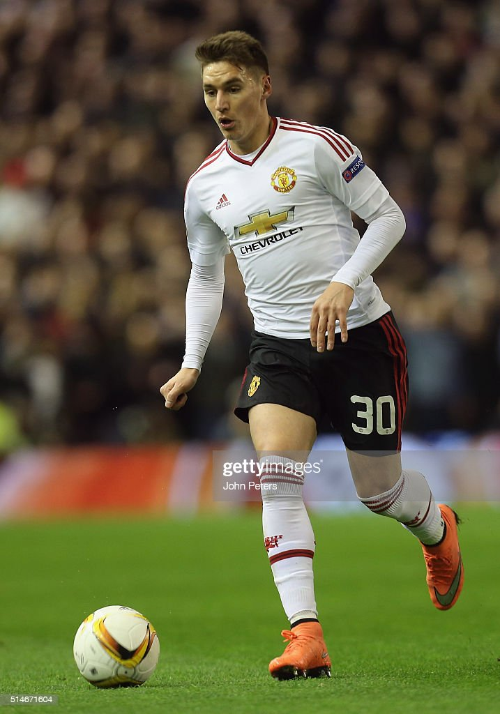 <a gi-track='captionPersonalityLinkClicked' href=/galleries/search?phrase=Guillermo+Varela&family=editorial&specificpeople=10113482 ng-click='$event.stopPropagation()'>Guillermo Varela</a> of Manchester United in action during the UEFA Europa League round of 16 first leg match between Liverpool and Manchester United at Anfield on March 10, 2016 in Liverpool, United Kingdom.