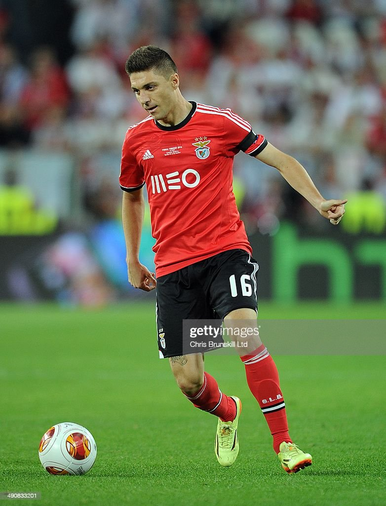 Guillherme Siqueira of SL Benfica in action during the UEFA Europa League Final match between Sevilla FC and SL Benfica at Juventus Stadium on May 14...