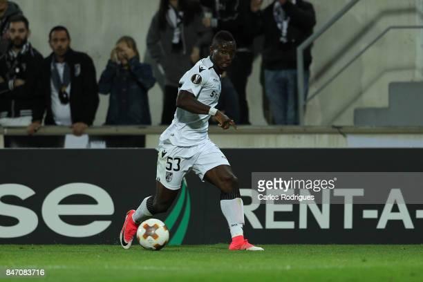 Guimaraes defender Guislain Konan from Ivory Coast during the match between Vitoria Guimaraes and RB Salzburg for UEFA Europa League at Estadio da...