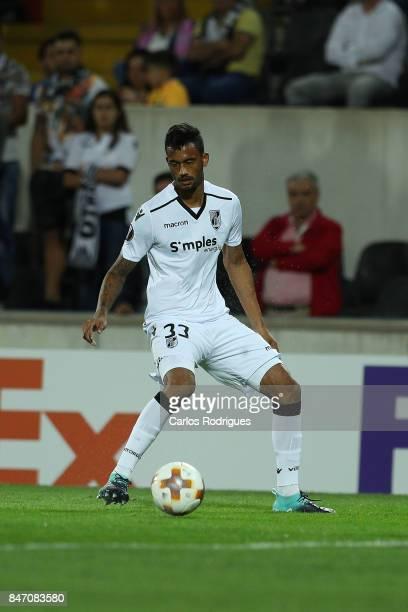 Guimaraes defender Jubal Junior from Brazil during the match between Vitoria Guimaraes and RB Salzburg for UEFA Europa League at Estadio da Dom...