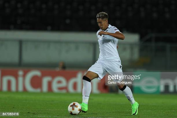 Guimaraes forward David Teixeira from Argentina during the match between Vitoria Guimaraes and RB Salzburg for UEFA Europa League at Estadio da Dom...
