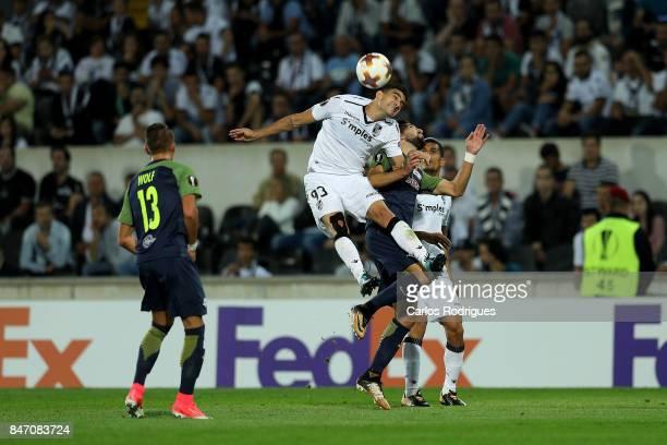 Guimaraes midfielder Guilherme Celis from Colombia during the match between Vitoria Guimaraes and RB Salzburg for UEFA Europa League at Estadio da...