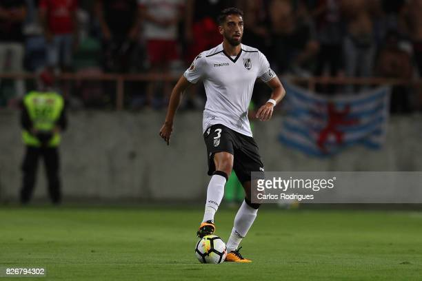Guimaraes's defender Josue Sa from Portugal during the match between SL Benfica and VSC Guimaraes at Estadio Municipal de Aveiro on August 05 2017 in...