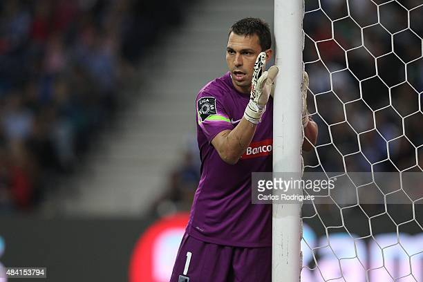 Guimaraes's goalkeeper Douglas Jesus during the match between FC Porto and Vitoria Guimaraes for the Portuguese Primeira Liga at Estadio do Dragao on...