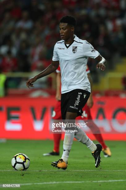 Guimaraes's midfielder Bongani Zungu from South Africa during the match between SL Benfica and VSC Guimaraes at Estadio Municipal de Aveiro on August...