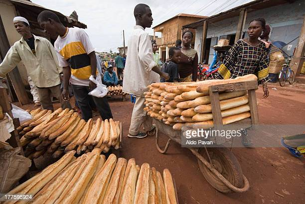 Guinea, Labé, morning market