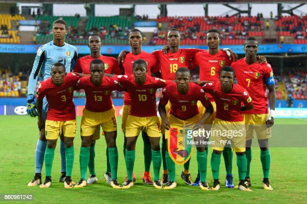 Guinea poses for a team photo ahead of the FIFA U17 World Cup India 2017 group C match between Guinea and Germany at Jawaharlal Nehru International...