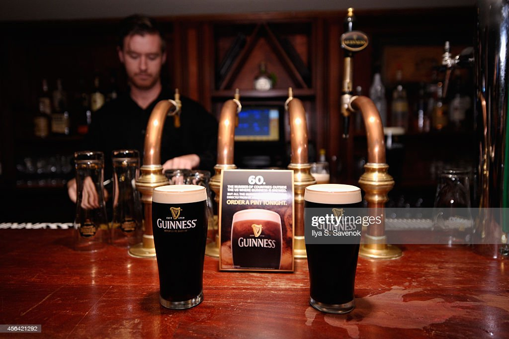 Guinness raises a glass in honor of The Leary Firefighters Foundation during a special event to present LFF founder Denis Leary with more than half a...
