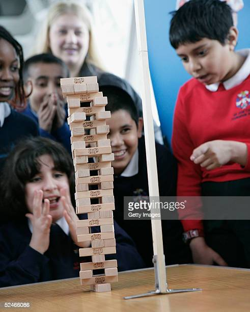 Guinness World Records challenge Jenga enthusiasts to build 30 levels of the popular building game in the fastest time possible at The Walkways Tower...