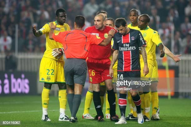 Guirane NDAW / Said ENNJIMI / Jerome ALONZO / Mateja KEZMAN PSG / Nantes 5 eme journee de Ligue 1