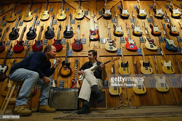 Guitar Center Stores Inc a retail chain that sells musical instruments has had strong profits and revenues lately Photo taken 1/29/04 inside the...