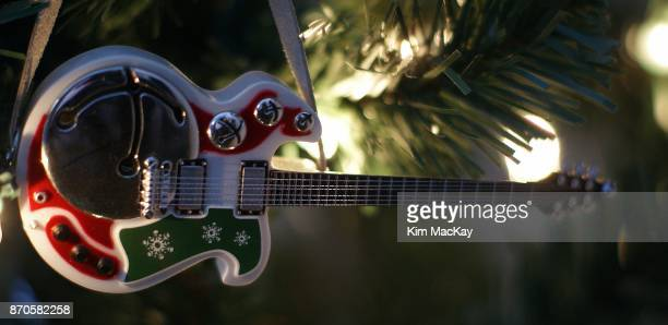 Guitar Christmas decoration on the tree
