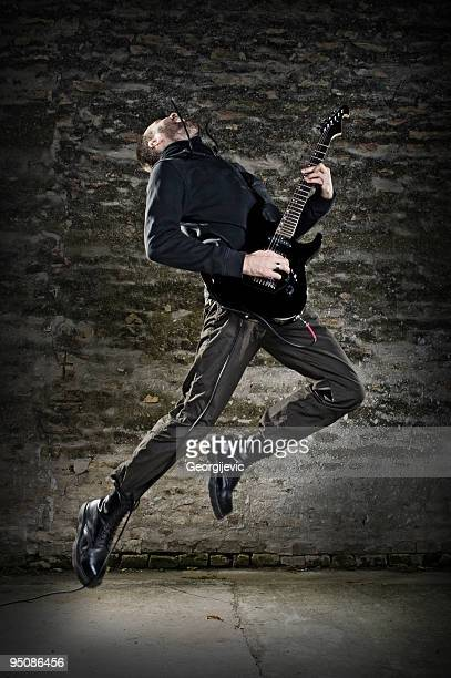 Guitar player jump