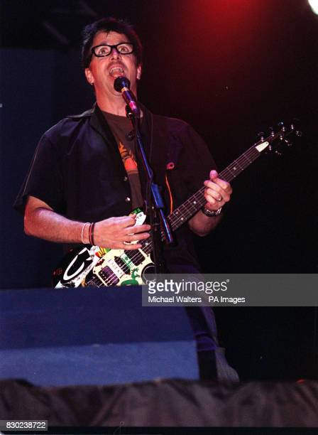 Guitar player Kevin 'Noodles' Wasserman of the band Offspring performing on stage at the Reading music festival