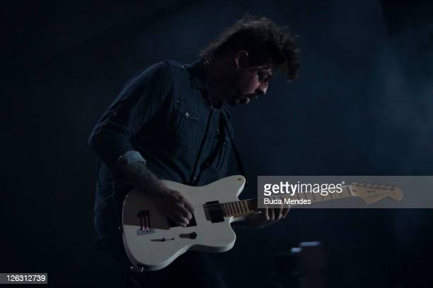 Guitar players of Stone Sour performs on stage during a concert in the Rock in Rio Festival on September 24 2011 in Rio de Janeiro Brazil Rock in Rio...