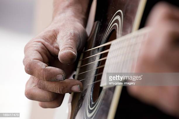 guitar plucking abstract