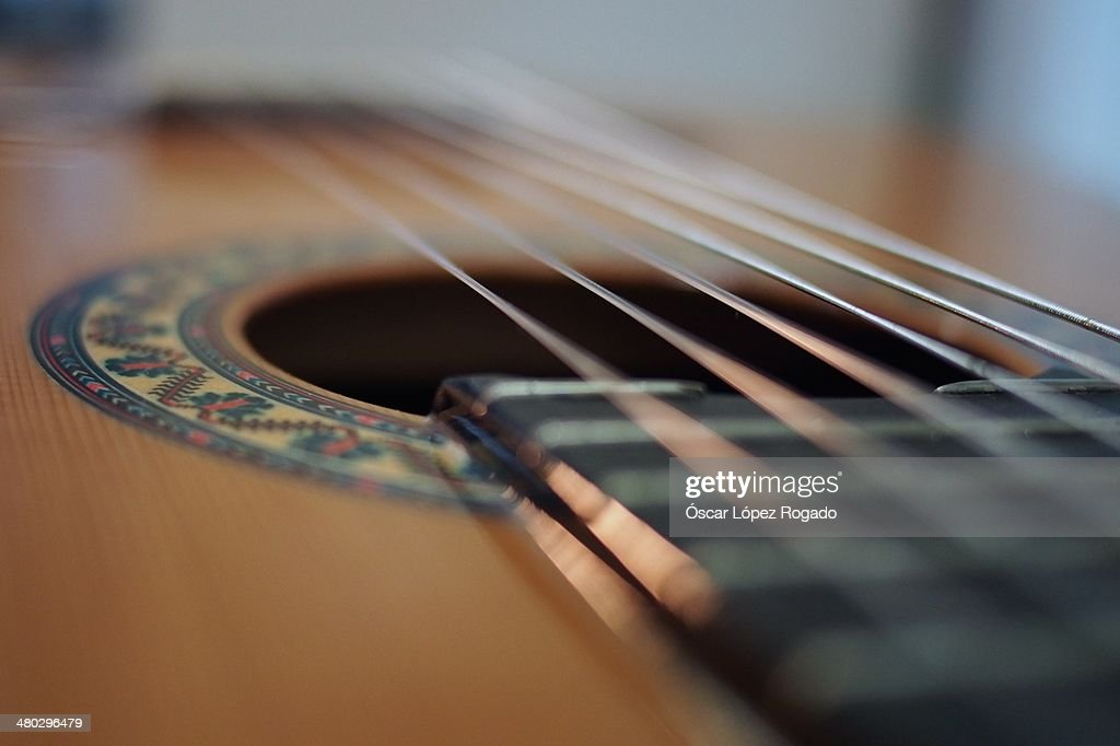 guitar strings and frets stock photo getty images. Black Bedroom Furniture Sets. Home Design Ideas