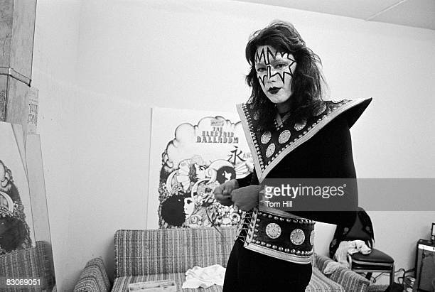 Ace Frehley of Kiss in the dressing room before performing at Alex Cooley's Electric Ballroom