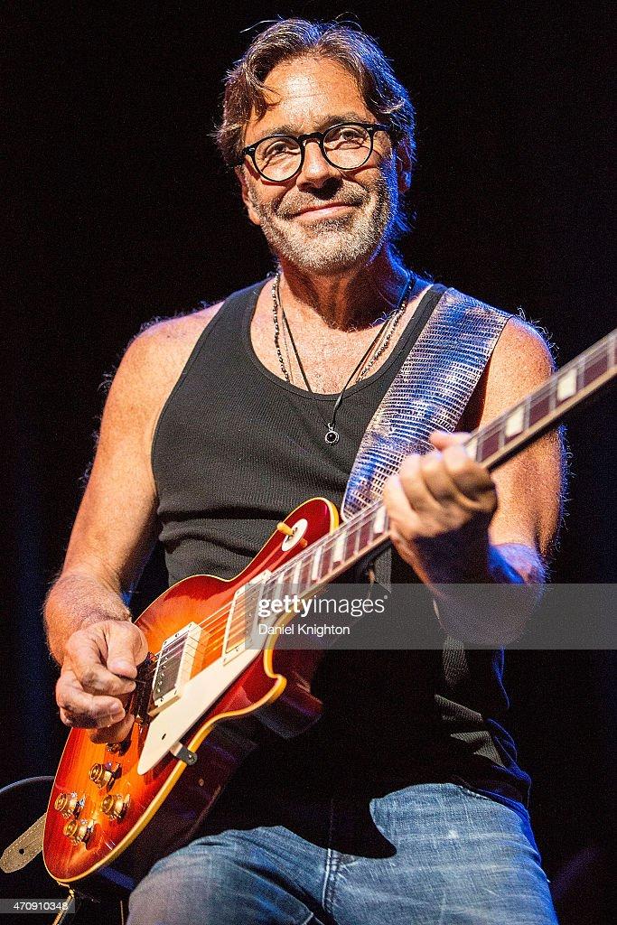 Guitarist Al Di Meola performs on stage at Balboa Theatre on April 23 2015 in San Diego California