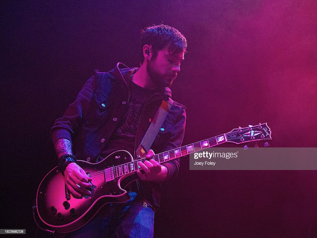 Guitarist Alex Rosamilia of The Gaslight Anthem performs in concert at Egyptian Room at Old National Centre on March 2, 2013 in Indianapolis, Indiana.