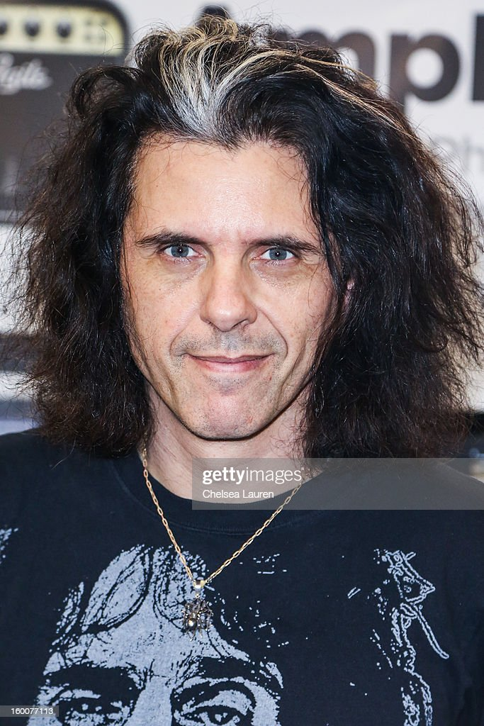 Guitarist Alex Skolnick attends the 2013 NAMM show at Anaheim Convention Center on January 25, 2013 in Anaheim, California.