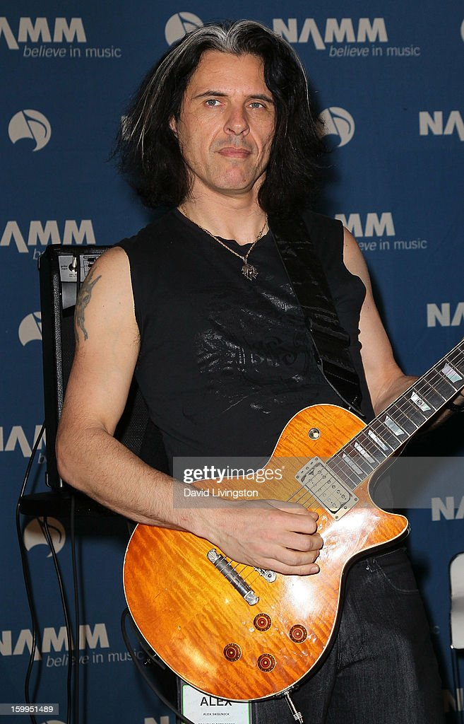 Guitarist Alex Skolnick of Testament attends the 2013 NAMM Show - Media Preview Day at the Anaheim Convention Center on January 23, 2013 in Anaheim, California.