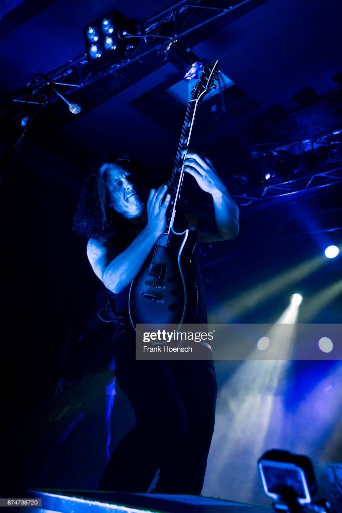 Guitarist Alex Skolnick of the American band Testament performs live on stage during a concert at the Astra on November 14, 2017 in Berlin, Germany.