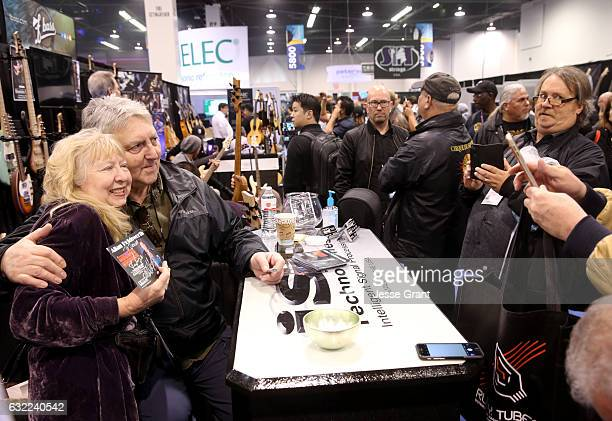 Guitarist Allan Holdsworth attends the 2017 NAMM Show at the Anaheim Convention Center on January 20 2017 in Anaheim California