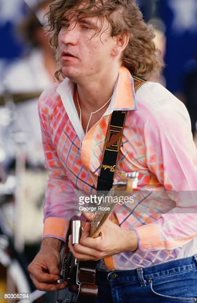 Guitarist and member of The Eagles Joe Walsh performs at the 1986 Manor Texas Farm Aid II concert The fundraising concert organized by Willie Nelson...