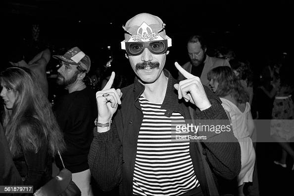 Guitarist and producer Bob Kulick at an Aerosmith party at Studio 54 in New York City on May 3 1983