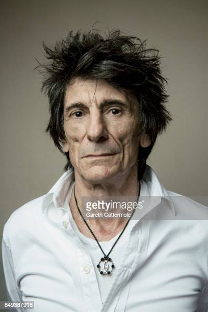 Guitarist and rock legend Ronnie Wood is photographed on August 15 2017 in London England