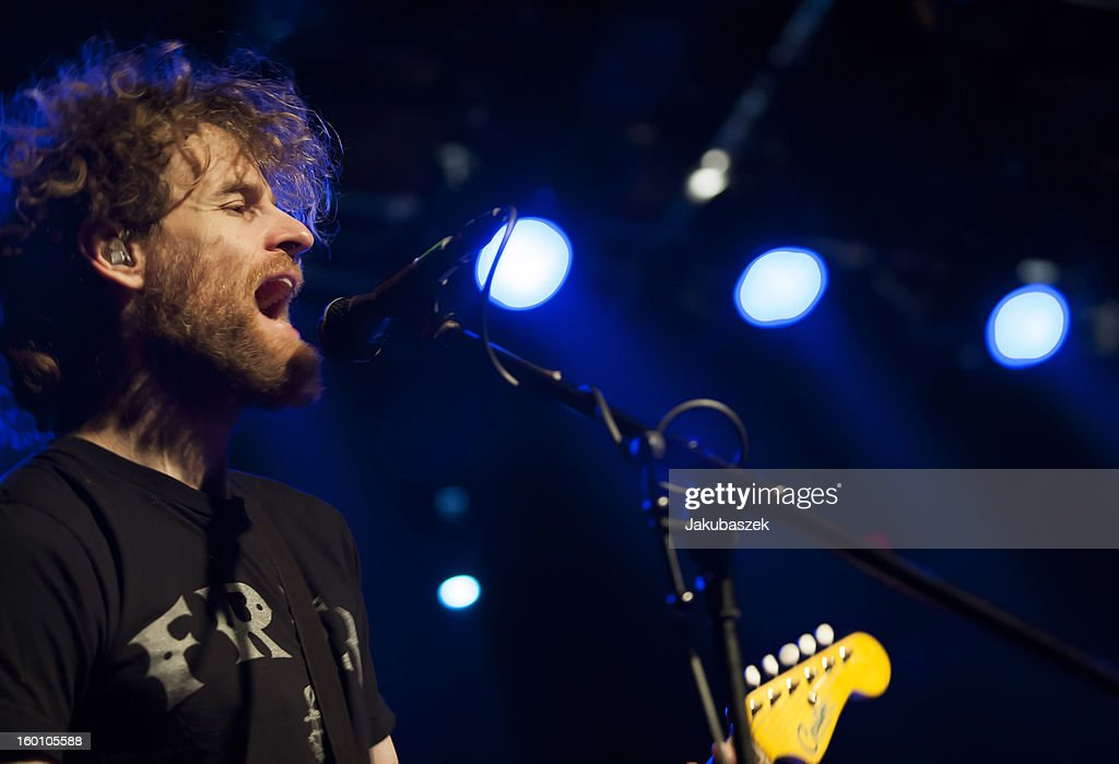 Guitarist and singer Chad Urmston of the US band Dispatch performs live during a concert at the Postbahnhof on January 26, 2013 in Berlin, Germany.