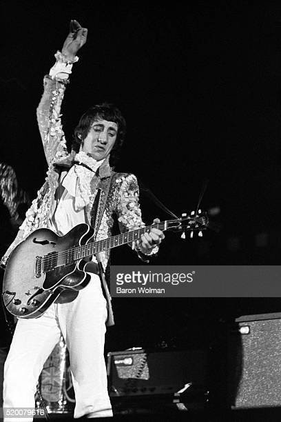 Guitarist and songwriter Pete Townshend of British rock group the Who performs at the Cow Palace San Francisco November 1967