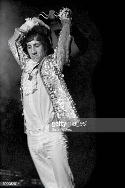Guitarist and songwriter Pete Townshend of the Who smashes his guiatar at the Cow Palace San Francisco November 1967