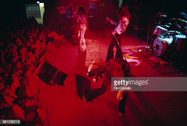 Guitarist and songwriter Ritchie Blackmore performing with British rock group Deep Purple 1974 From front to back Ritchie Blackmore David Coverdale...