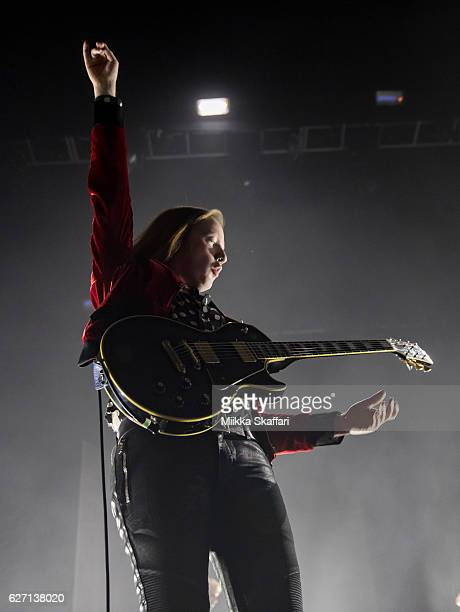 Guitarist and vocalist Alex Trimble of Two Door Cinema Club performs at Fox Theater on December 1 2016 in Oakland California