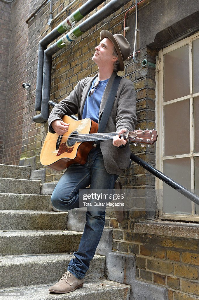 Guitarist and vocalist Fran Healy of Scottish indie rock group Travis photographed before a performance at Islington Assembly Hall in London on June...