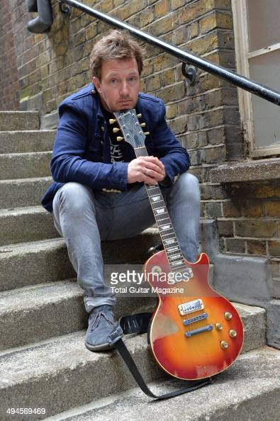 Guitarist Andy Dunlop of Scottish indie rock group Travis photographed before a performance at Islington Assembly Hall in London on June 13 2013