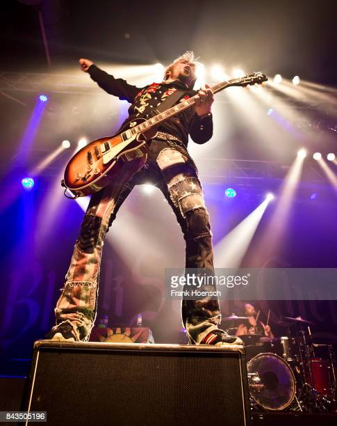 Guitarist Ben Wells of the American band Black Stone Cherry performs live on stage during a concert at the Huxleys on September 6 2017 in Berlin...
