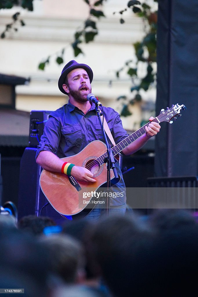 Guitarist Ben Worcester of Said the Whale performs at the 2013 Grove summer concert series at The Grove on July 24, 2013 in Los Angeles, California.